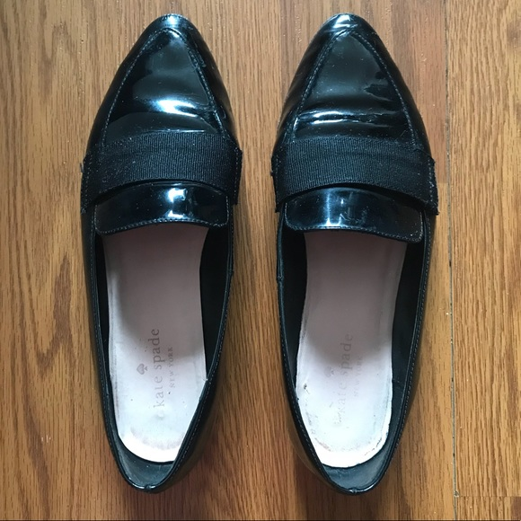 2c56cdb3df1 kate spade Shoes - Kate Spade Black Patent Corina Loafer Flats in 7